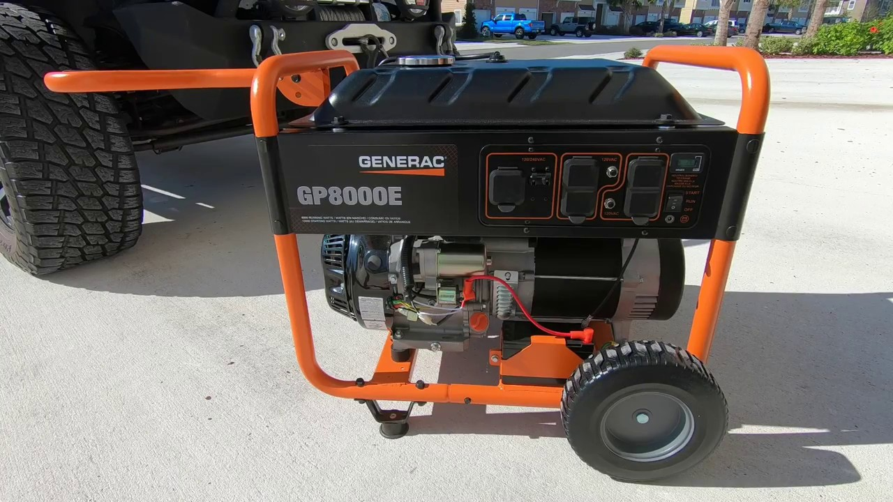 Generac Portable Generator Gp8000e Youtube Inverter Wiring Diagram