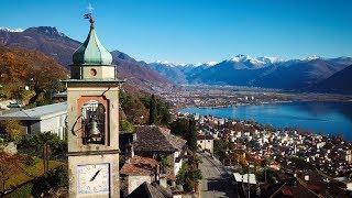 Drone Views of Switzerland in 4k: Orselina & Brione sopra Minusio