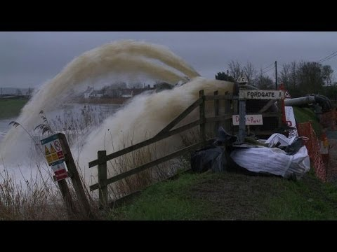 Southwest England battles floods and record rainfall