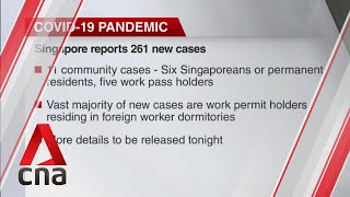 COVID-19 update, June 5: Singapore reports 261 new cases