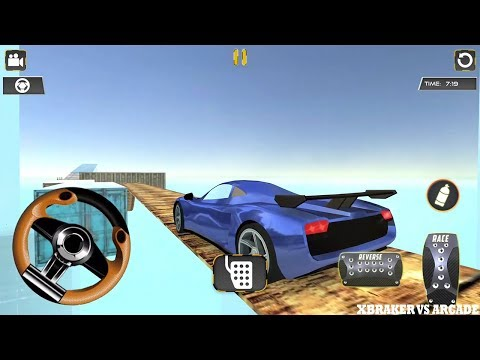 Impossible Trucks Car Stunts 2017 New Car Unlocked (BLUE) - Android GamePlay Simulator FHD