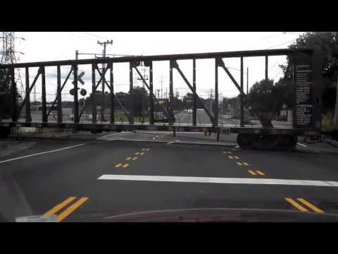 BNSF - LMX freight train going through Nashville Tennessee. Milwaukee Road box car