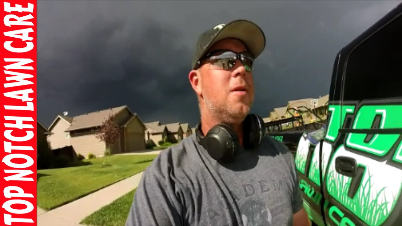 New Lawn Care Client Rain Is Coming Vlog 118 Top Notch