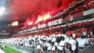 Ambiance Nice - Lyon : Tifo + Nissa la bella !
