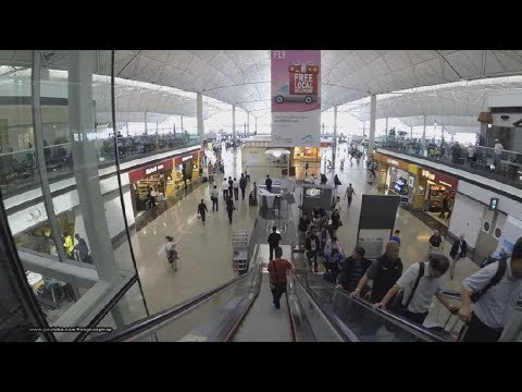【香港國際機場】Hong Kong International Airport - Walking inside Terminal 1 & 2