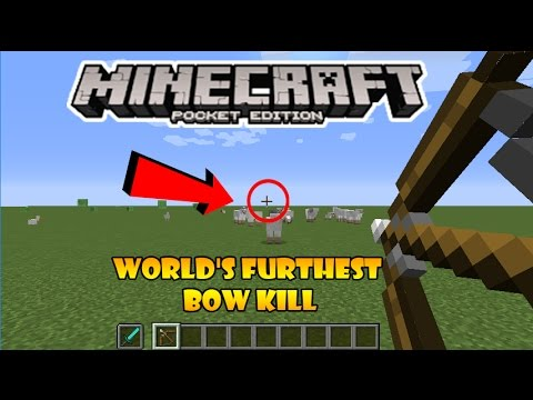 World's Furthest Bow Kill in Minecraft Pocket Edition!