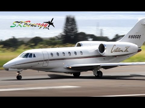 Two !!! Cessna Citation X departing St Kitts Robert L. Bradshaw Int'l Airport