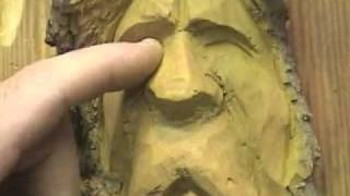 How To Carve A Wood Spirit In Cottonwood Bark  6