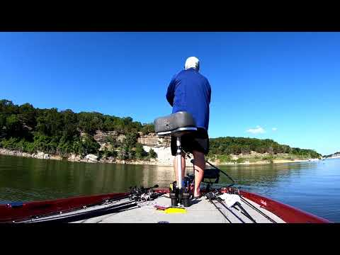Bass Fishing - Striped Bass Action - Lake Whitney, TX - 05 May 2018