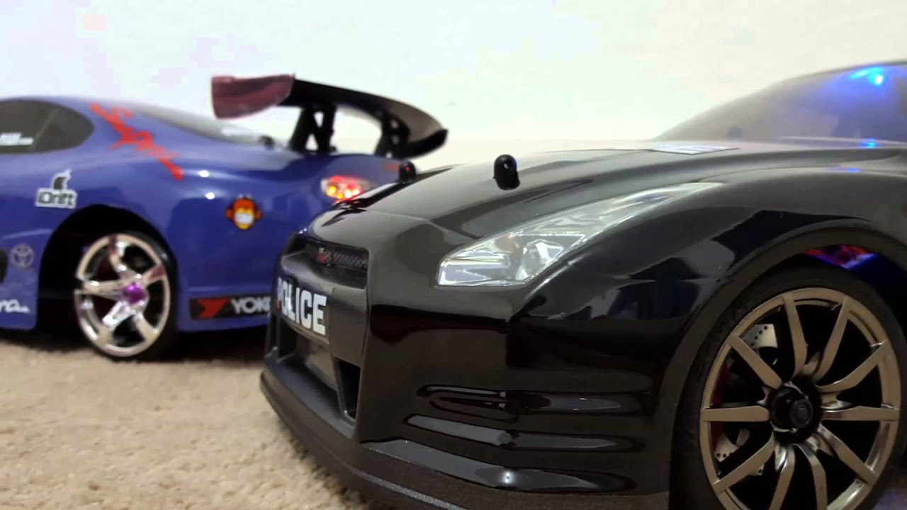 Rc Nissan Gtr Vs Rc Camaro Zl1 Police Show Youtube