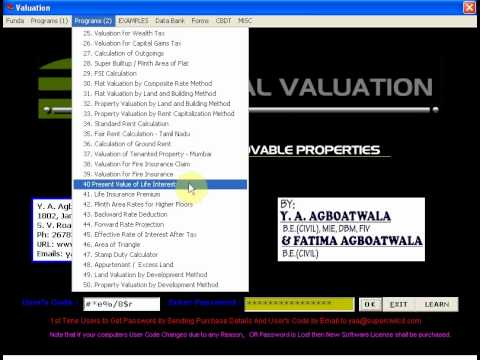 SUPER REAL VALUATION -  A SOFTWARE FOR VALUATION OF IMMOVABLE PROPERTIES