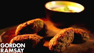 Chickpea, Cumin & Spinach Koftas With Tahini Dressing - Gordon Ramsay
