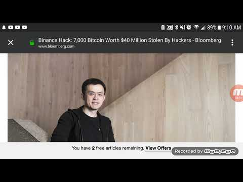 Hackers Steal $40 Million Worth Of Bitcoin From Binance!