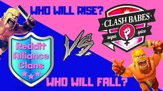 Clash Babes vs Reddit Alliance Clans - Clash of Clans