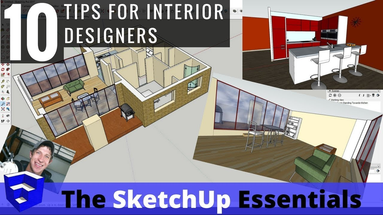 Top 10 tips for interior design modeling in sketchup youtube for Siti di interior design