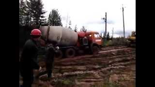 Доставка бетона в труднодоступные места в Ижевске и Удмуртии(, 2015-10-21T09:49:11.000Z)