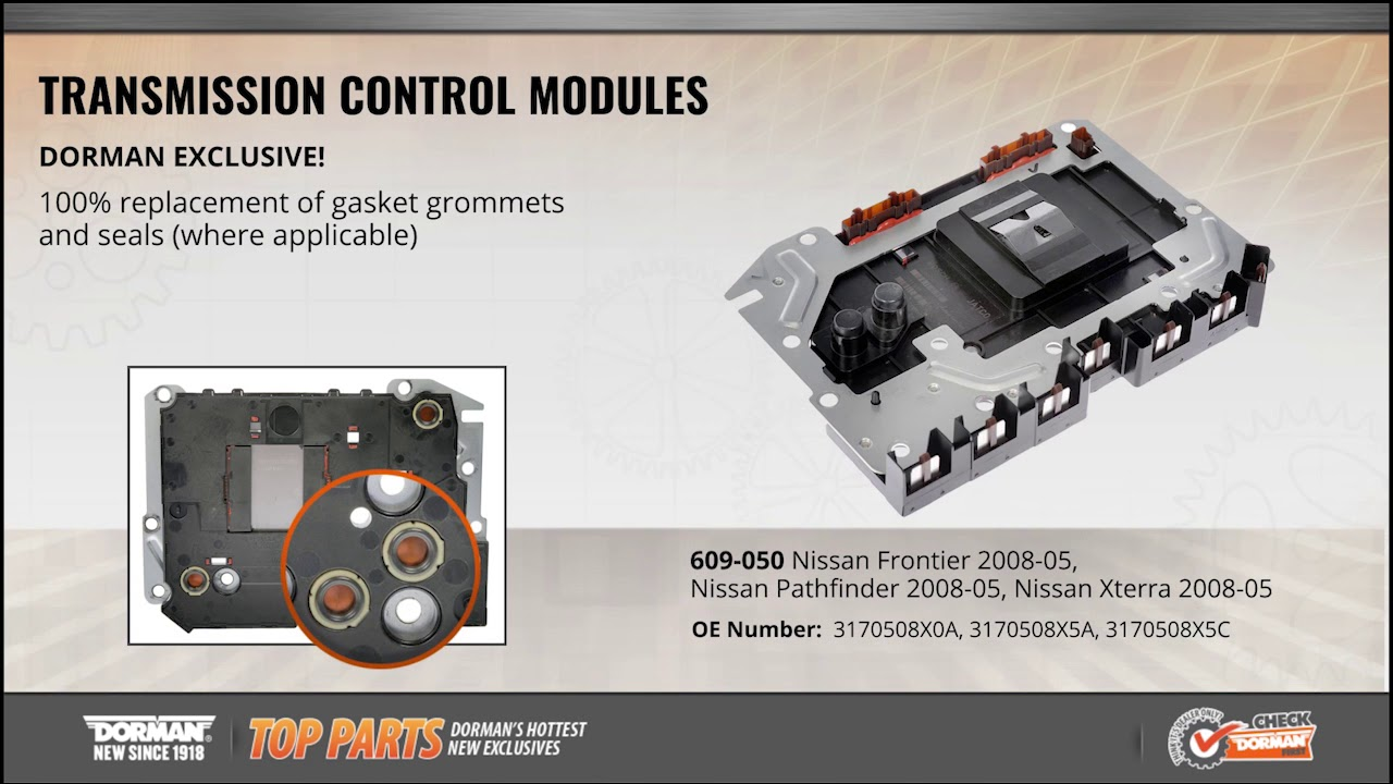 highlighted part transmission control module for select nissan frontier pathfinder xterra models [ 1280 x 720 Pixel ]