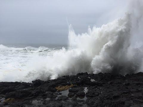 Oregon Coast Winter Storm Watching Jan 2018