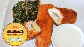 Куриные рулеты с сыром и соусом Блю Чиз / Chicken rolls with cheese