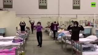 Group dance lifts spirits of quarantined Chinese coronavirus patients