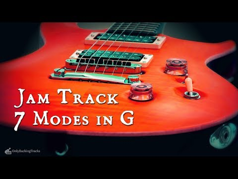 All 7 Modes in G  Segmented Jam Track