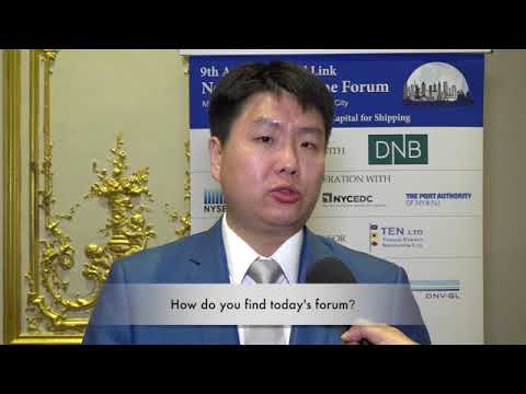 2017 9th Annual New York Maritime Forum - Mr. James Jang Interview