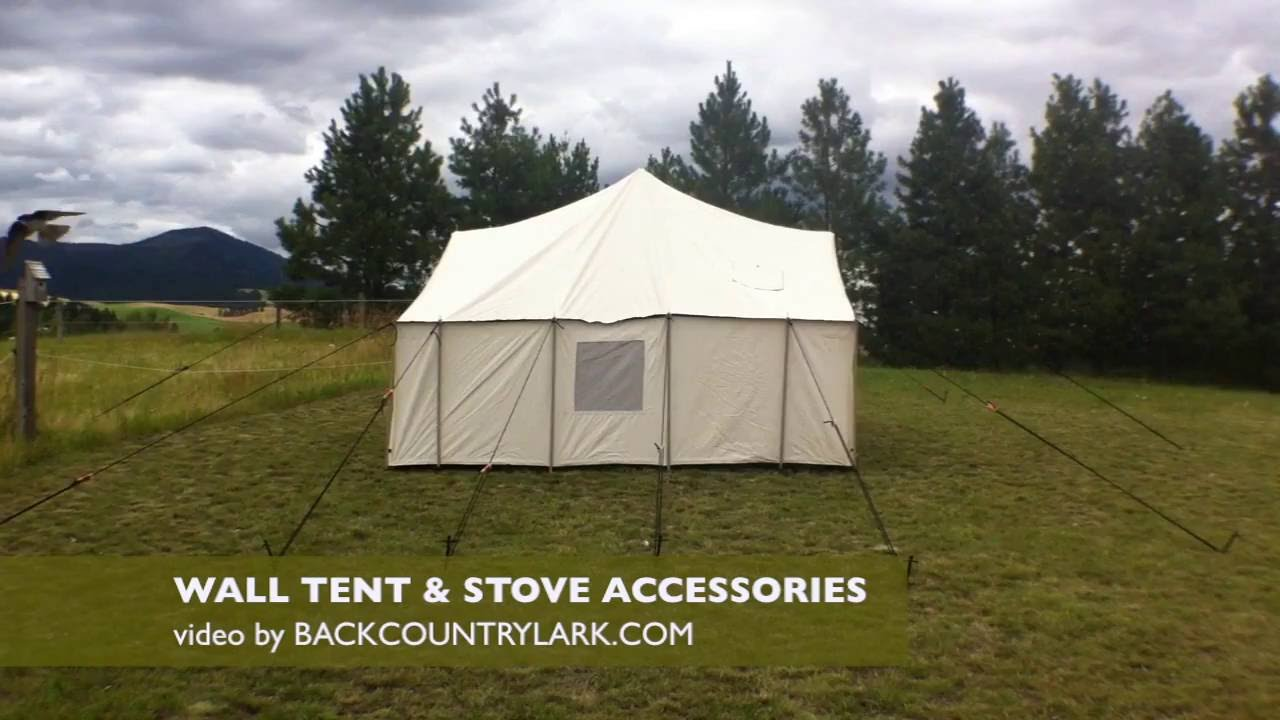 Canvas Tent Accessories - YouTube
