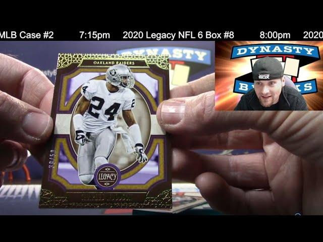 2020 Legacy Football Card 8 Box Half Case Break #8   Sports Cards