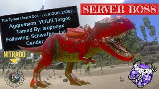 LEVEL 10,000 REX DESTROYS EVERYONE!!! | SchwalARK | ARK Survival Evolved Mobile