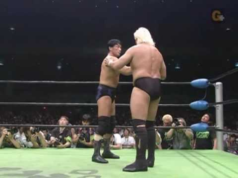 Keiji Mutoh and Akira Taue vs. Yoshihiro Takayama and Kenta Kobashi Part 1