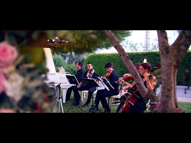 With or without you U2 Piano violins cello cover Musical Mastia Boda