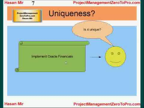 Project Management PMP - Project Characteristics