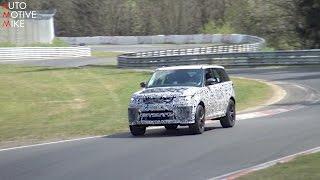 2018 Range Rover Sport SVR Spied Testing At The Nürburgring