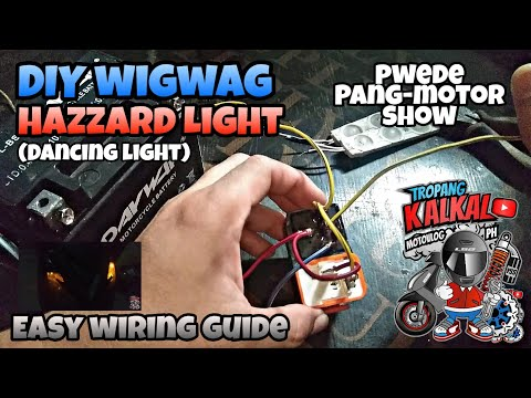 DIY Wigwag Hazzard Light | How to Wire Wigwag Hazzard Light | Yamaha Mio 4