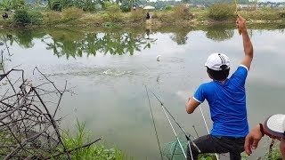 Câu cá sông không ngờ bắt được con cá to