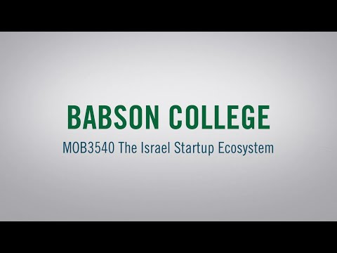 MOB3450 The Israel Startup Ecosystem With Professor Peter Cohan