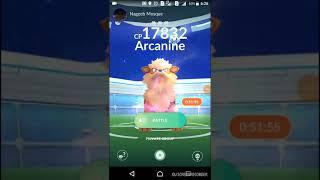POKEMON GO SUCCESSFUL SOLO lvl 3 raid Arcanine