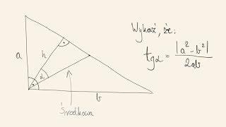 Poziom rozszerzony - zadanie dowodowe geometryczne