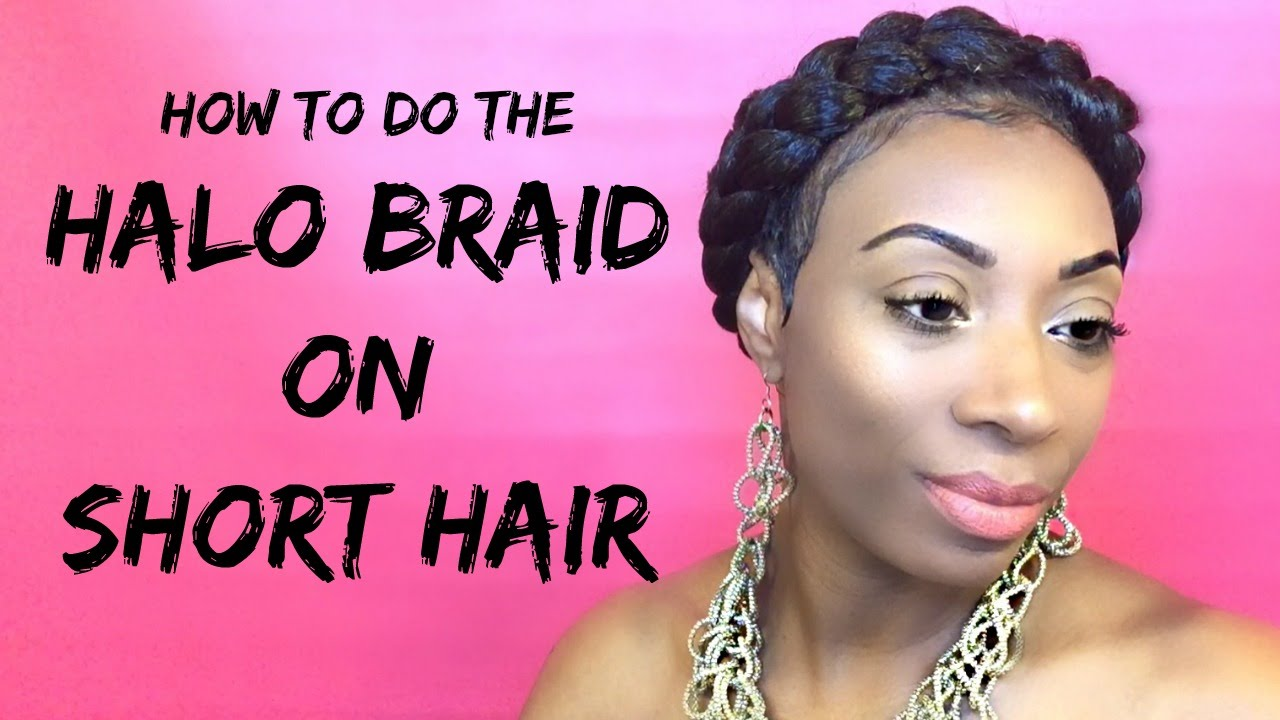 Short hair tutorial how to do a halo braid on short hair youtube pmusecretfo Images