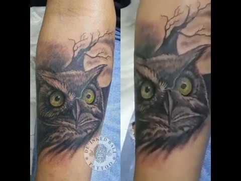 De Inked Bali Tattoo Owl Tattoo Design Part 2 Youtube