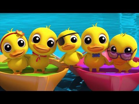 five little ducklings | nursery rhymes farmees | kids songs | 3d rhymes by Farmees