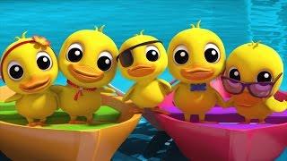 five little ducklings   nursery rhymes farmees   kids songs   3d rhymes