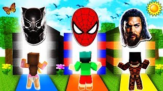 - Minecraft DO NOT Choose the Wrong Dimension SPIDERMAN, AQUAMAN BLACK PANTHER