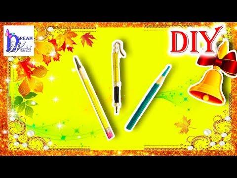 Смотреть Как сделать карандаши и ручки для кукол (школа). DIY. How to make pens and pencils for Dolls.