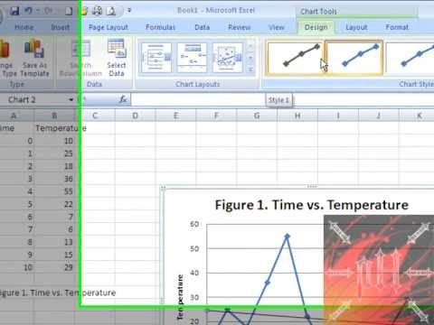 Easy Way to Make a Graph on Excel FROM SCRATCH - Excel 2007 or 2010 - How To Graph Excel