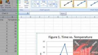 Easy Way to Make a Graph on Excel FROM SCRATCH - Excel 2007 or 2010