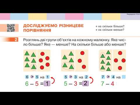 1 клас. Математика. ДОСЛІДЖУЄМО РІЗНИЦЕВЕ ПОРІВНЯННЯ. МОДЕЛЮЄМО РІЗНИЦЕВЕ ПОРІВНЯННЯ