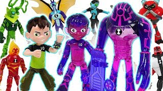 Ben 10 and alien Upgrade mix combine! Glitch Ben appeared! Defeat the dinosaurs! #DuDuPopTOY