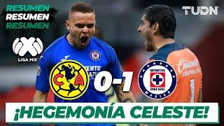 Resumen   América 0 - 1 Cruz Azul   Liga Mx Clausura 2020 - Jornada 10   TUDN