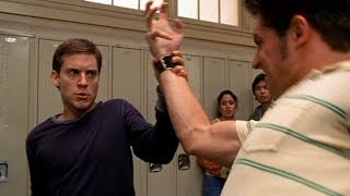 Peter Parker vs Flash Thompson,School Fight Scene ¦ Spider Man 2002 Movie CLIP HD